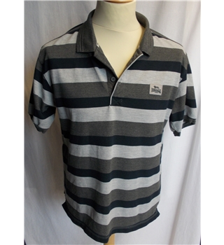 Lonsdale - Size: L - Grey/black striped - Polo shirt