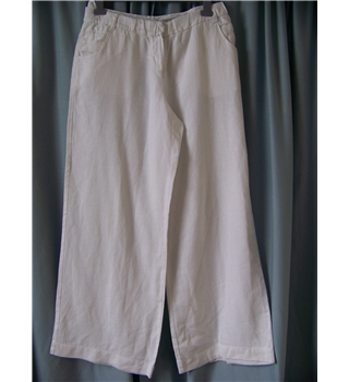 "Full Circle - Size: 32"" - White - Trousers"