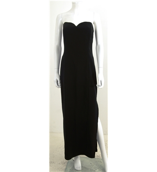 Ariella London Size 16 Black Classic Strapless Long Dress