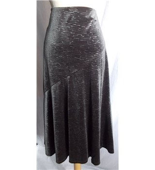 Per Una size 10 dark green shiny calf length skirt