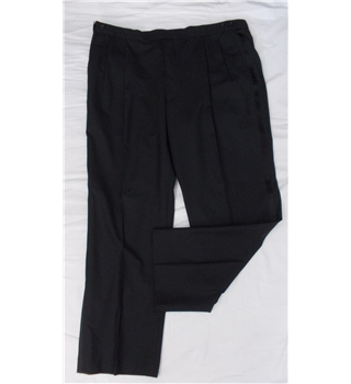 "NWT Marks and Spencer size 42"" waist black formal trousers"