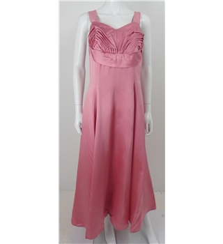 Vintage 1940s Size 8 Flamingo Pink Occasion Wear Dress