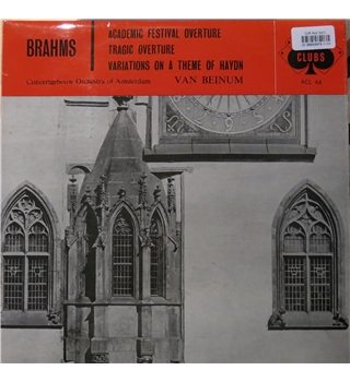Brahms - Academic Festival Overture, Tragic Overture, Variations on a Theme of Haydn, Decca ACL 44
