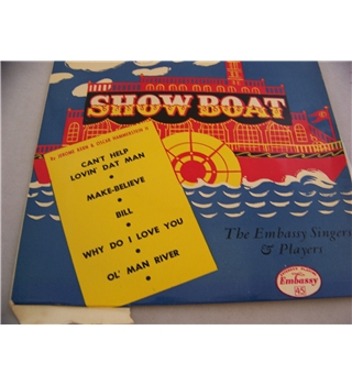 "the music of showboat the embassy singers & players - wep 1029 7"" EP single"