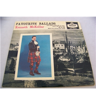 "Favourite Ballads by Kenneth McKellar - dfe 6576 7"" EP single"
