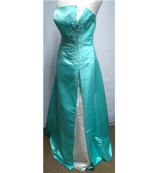 Bella Formals prom gown Venus Size 10 Green  A-line dress