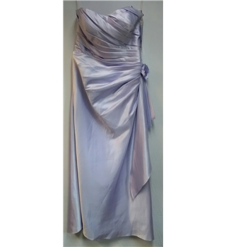 Bridesmaids strap dress Veromia Size 16 Lilac Long dress