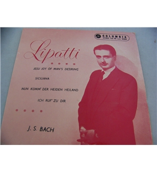 "j s bach dinu lipatti (7"" single) - sel 1631"