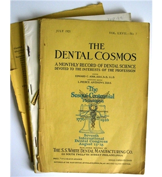 The Dental Cosmos, July 1925, vol. LXVII, #7