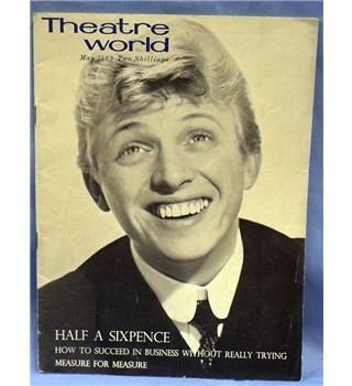 May 1963. Theatre World magazine featuring Tommy Steele.