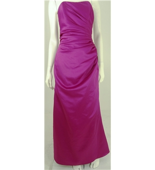 Emily Fox Size 12 Pink Long Strapless Dress