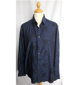 "Autograph M&S size 44"" chest dark blue long sleeved shirt"