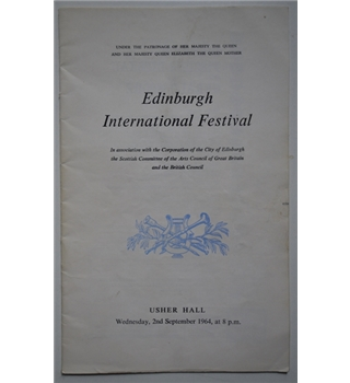 Gerald Moore - Signed Edinburgh International Festival Programme
