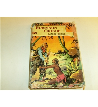 Robinson Crusoe Daniel Defoe illustrated by Frank Jennens Bruce publ c. 1950 with d/j