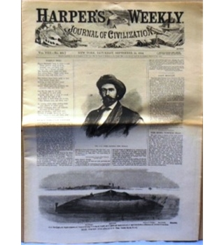 1864 September 24th. Harper's Weekly Journal of Civilization. Re-issue.