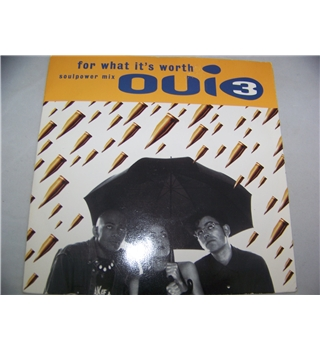 "For What It's Worth Oui3 (7"" single) - mcs 1941"