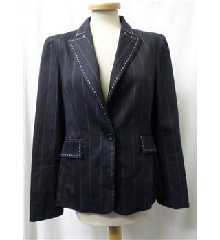Coast - Size: L - Black with white stripes - Smart jacket