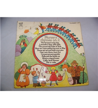 "Nursery Rhymes no 2 Cynthia Glover, John Lawrenson and children's choir (7"" single) - fp 29"