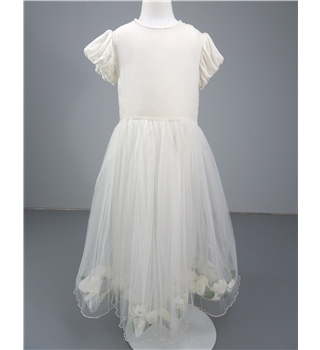 Lesy by Lisetta Cosi Couture Age 10 years Ivory Flower Girl Dress