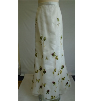 Helen Bailey - Size: 12 - Cream / ivory embroidered long skirt great for a wedding