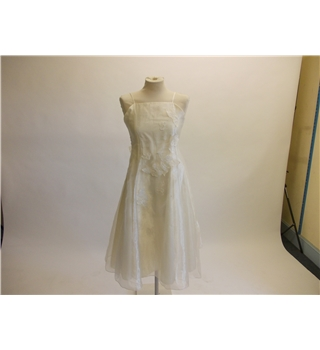 Childs Bridesmaid Dress Gloss - Size: 8 - White - Dress /  gown