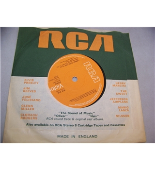 "Amazing Grace The Pipes & Drums & the Military Band of the Royal Scots Dragoon Guards (7"" single) - rca 2191"