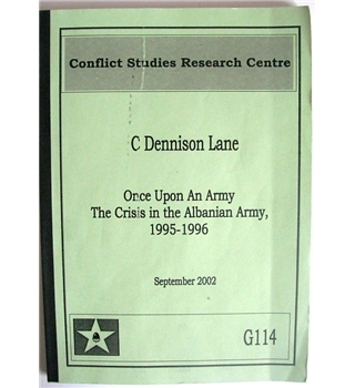 Once upon an Army: The Crisis in the Albanian Army, 1995-1996