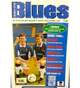 Carlisle United v Watford - Division 2 - 16th August 1997