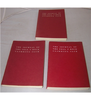 The Journal of the Fell & Rock Climbing Club Nos 57-59, Vol XX nos 1-3 (3 volumes)