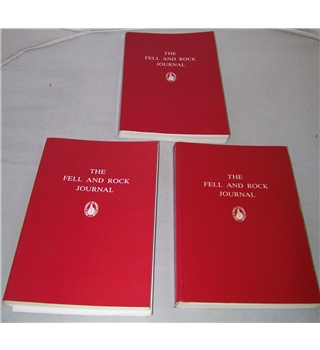 The Journal of the Fell & Rock Climbing Club Nos 67-69, Vol XXIII Nos 2 and 3, plus Vol XXIV No 1 (3 volumes)