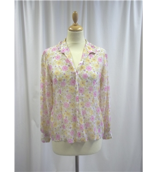 Unbranded - Size: M - Pink and Yellow - Blouse