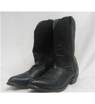 masterson boot co size 15d black leather cowboy western