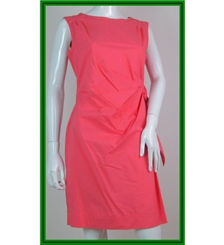 BNWT - Monsoon - Size: 12 - Coral Pink - Knee Length dress
