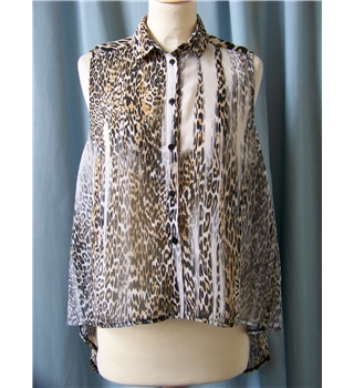 Topshop - Size: 10 - Brown - Blouse