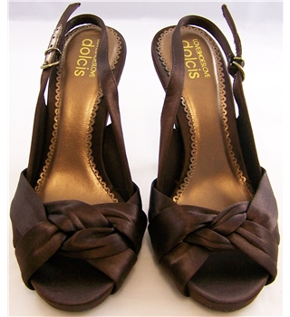 Dolcis - Size: 3.5 - Sateen Brown Stiletto Shoes