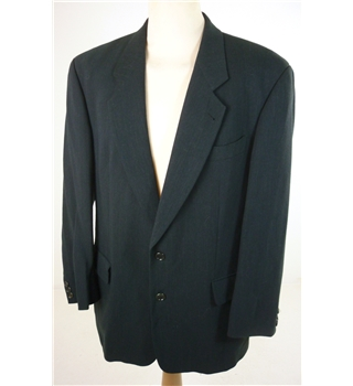 "Hugo Boss Size: Large, 41"" chest, reg fit Black Smart/Sublime Pure New Wool Designer Single Breasted Jacket."