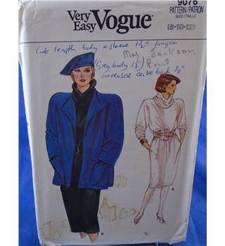 Vintage Very Easy Vogue Jacket and Chemise Dress Pattern