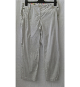 Boden size: 14R beige / white striped trousers