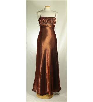 Morgan and Co by Linda Bernell - Size: 4 - Bronze - Evening dress
