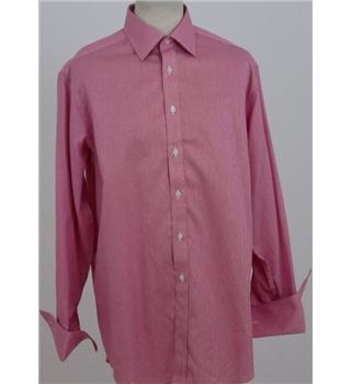 Charles tyrwhitt size m pink white check long sleeved for Mens dress shirts charles tyrwhitt
