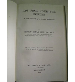 Law from over the Border: A Short Account of a Strange Jurisdiction