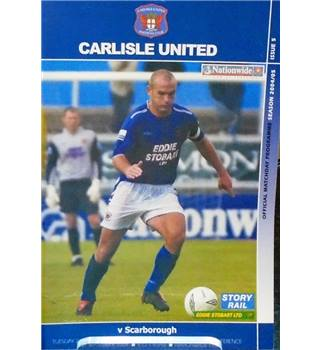 Carlisle United v Scarborough - Conference League - 21st September 2004