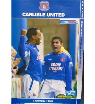 Carlisle United v Grimsby Town - Football League Trophy 1st Round - 28th September 2004