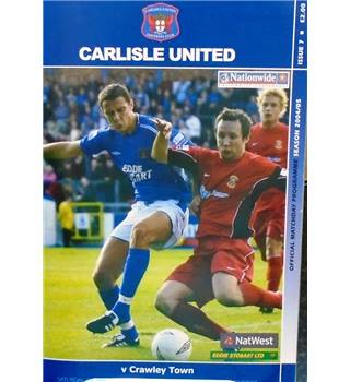Carlisle United v Crawley Town - Conference League - 2nd October 2004