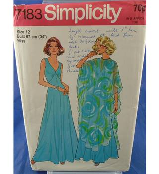 Vintage simplicity 7183 Poncho and Dress Pattern