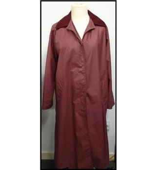 Carryon Clothing Waxed Long Rain Jacket - Large