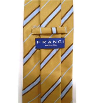 Frangi Brown Striped Silk Tie