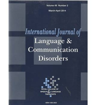 International Journal of Language & Communication Difficulties Vol 49 No.2