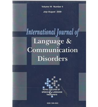International Journal of Language & Communication Difficulties Vol 44 No.4