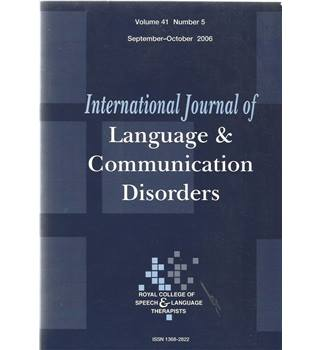 International Journal of Language & Communication Difficulties Vol 41 No.5
